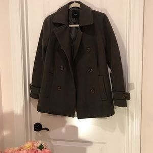 Olive green Coat from Forever 21